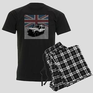 Union Jack Land Rover Defender Men's Dark Pajamas