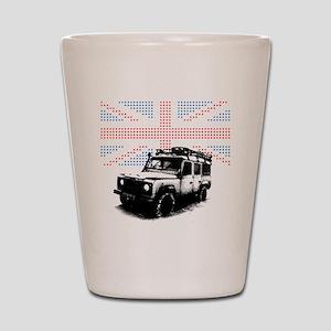 Union Jack Land Rover Defender Shot Glass