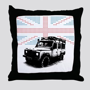 Union Jack Land Rover Defender Throw Pillow