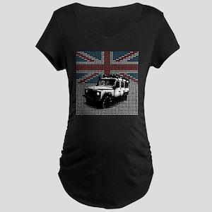 Union Jack Land Rover Defen Maternity Dark T-Shirt