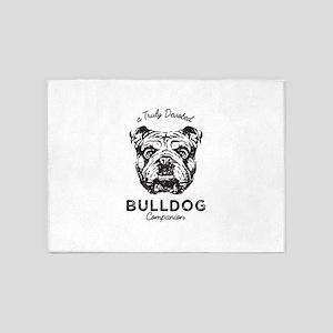 Bulldog 5'x7'Area Rug