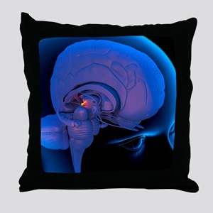 Pineal gland in the brain, artwork Throw Pillow