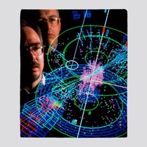 Physicists view a particle collision Throw Blanket
