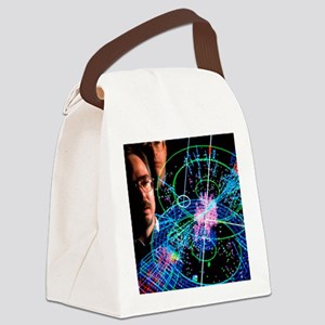 Physicists view a particle collis Canvas Lunch Bag