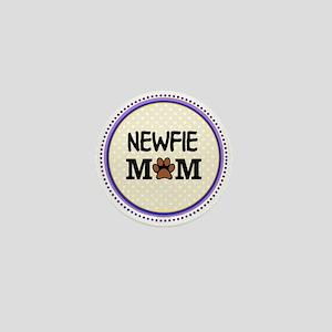 Newfie Dog Mom Mini Button