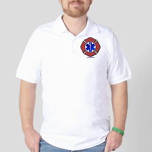 Steel Plate Maltese Cross and Star of L Golf Shirt