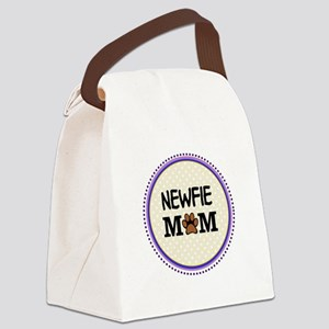 Newfie Dog Mom Canvas Lunch Bag