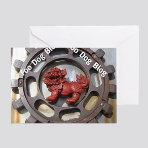 Foo Dog Blog Greeting Card
