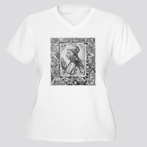 Pico della Mirand Women's Plus Size V-Neck T-Shirt
