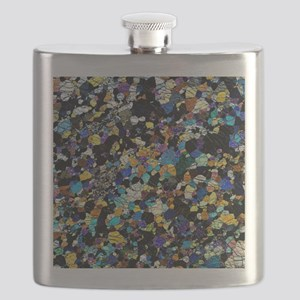 Peridotite rock, light micrograph Flask