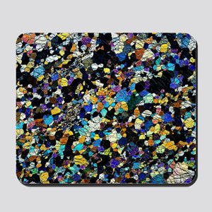 Peridotite rock, light micrograph Mousepad