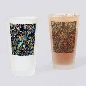 Peridotite rock, light micrograph Drinking Glass