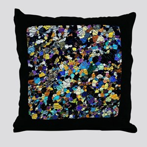Peridotite rock, light micrograph Throw Pillow