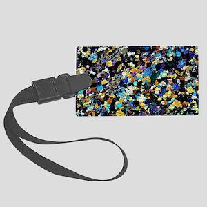 Peridotite rock, light micrograp Large Luggage Tag