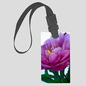 Peony flower (Paeonia sp.) Large Luggage Tag