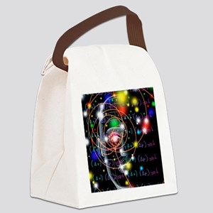 Particle tracks, equations and he Canvas Lunch Bag