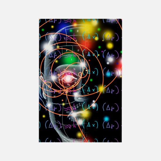 Particle tracks, equations and he Rectangle Magnet