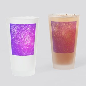 Particle tracks on galaxies Drinking Glass