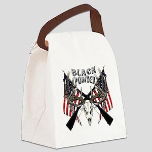Black Powder buck Canvas Lunch Bag