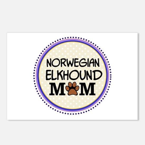 Norwegian Elkhound Dog Mom Postcards (Package of 8
