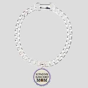Norwegian Elkhound Dog Mom Bracelet