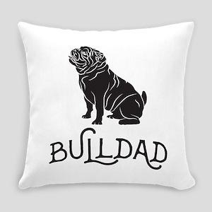 Bulldog Dad Everyday Pillow