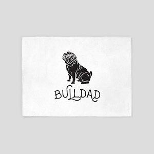 Bulldog Dad 5'x7'Area Rug
