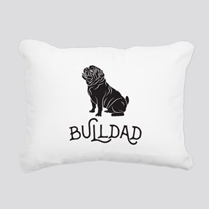 Bulldog Dad Rectangular Canvas Pillow