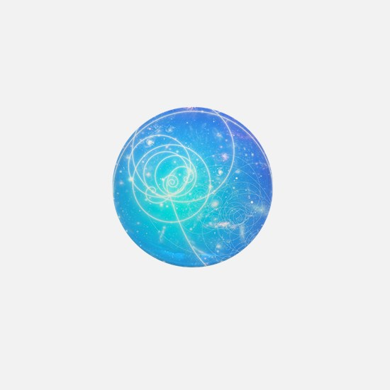 Particle tracks on galaxies Mini Button