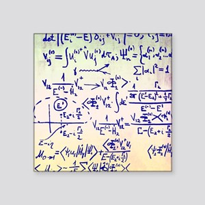 "Particle physics equations Square Sticker 3"" x 3"""