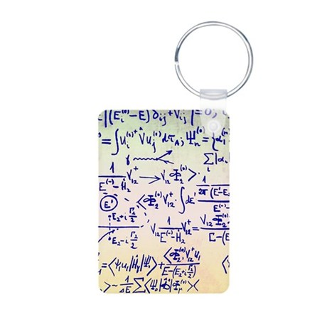 Particle physics equations Aluminum Photo Keychain