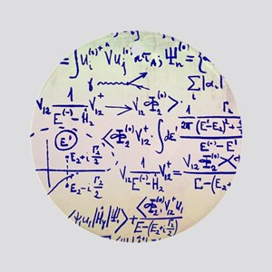 Particle physics equations Round Ornament
