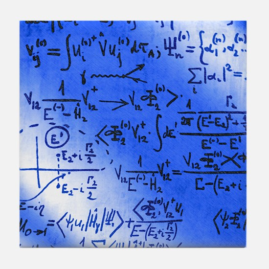 Particle physics equations Tile Coaster