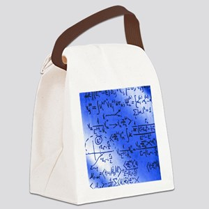 Particle physics equations Canvas Lunch Bag