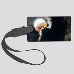 Partial lunar eclipse Large Luggage Tag