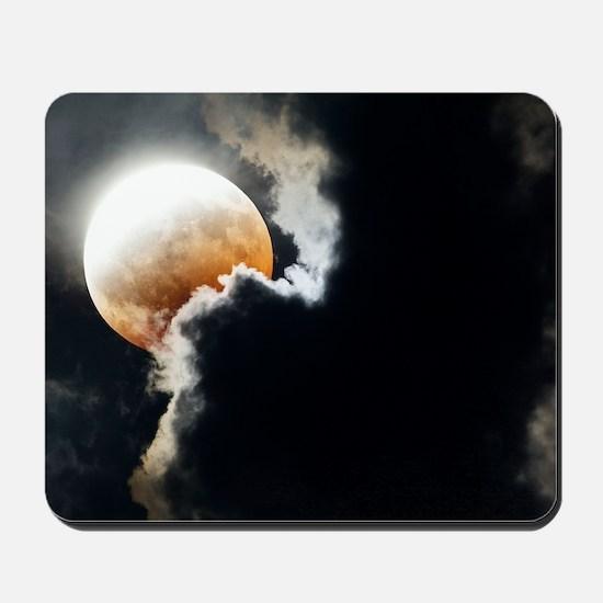 Partial lunar eclipse Mousepad