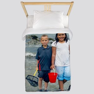 Paddling in the sea Twin Duvet