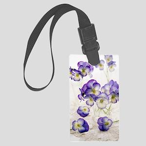 Pansies (Viola sp.) Large Luggage Tag