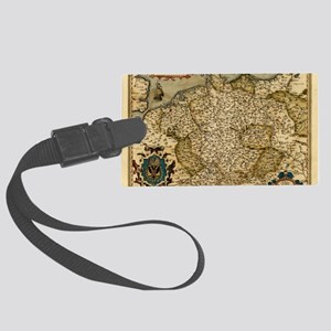 Ortelius's map of Germany, 1570 Large Luggage Tag
