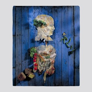 Organic food, conceptual image Throw Blanket