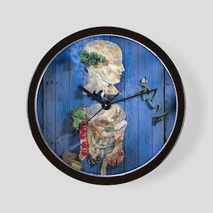 Organic food, conceptual image Wall Clock