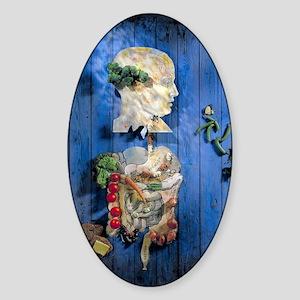 Organic food, conceptual image Sticker (Oval)