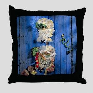 Organic food, conceptual image Throw Pillow