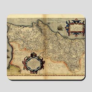 Ortelius's map of Portugal, 1570 Mousepad