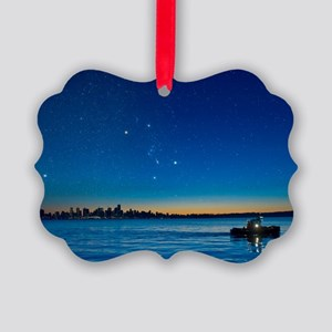 Orion over Vancouver, Canada Picture Ornament