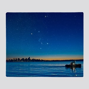 Orion over Vancouver, Canada Throw Blanket