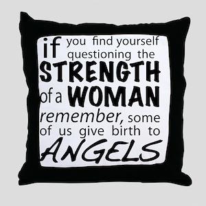 Strength of a Woman Throw Pillow