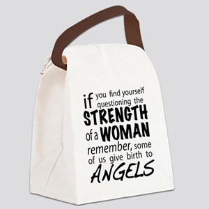 Strength of a Woman Canvas Lunch Bag
