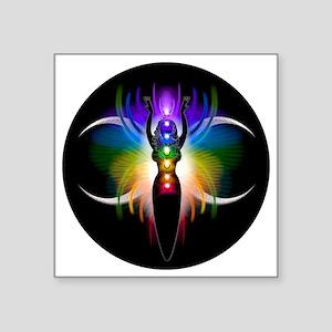 """Chakra Goddess Square Sticker 3"""" x 3"""""""