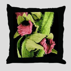 Orchid flowers, SEM Throw Pillow